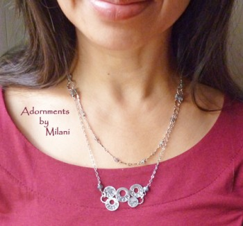 Family Necklace with Husband and Children's Names